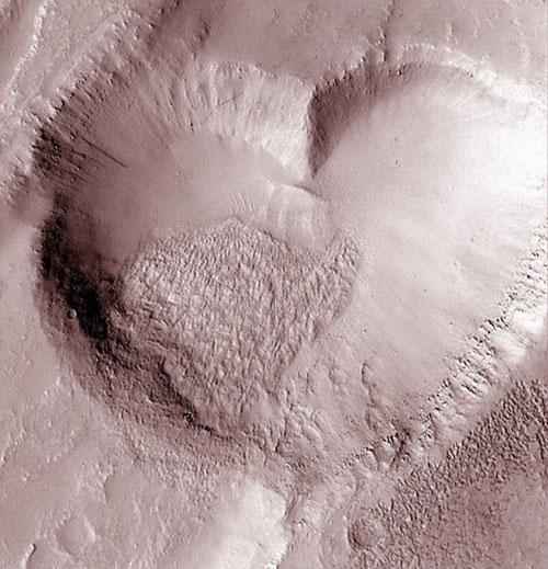 Mars Valentine Crater
